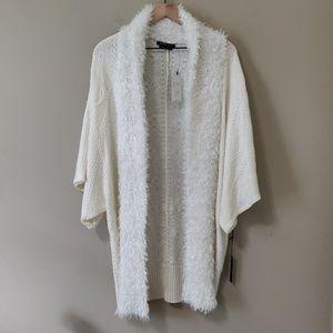 BCBGMaxAzria Open knit cardigan in Winter White